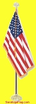 .Indoor Presentation Kit- USA Flag - DELUXE_7ft_8ft_9ft Pole